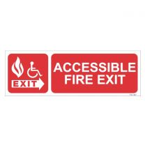 Accessible Fire Exit Sign