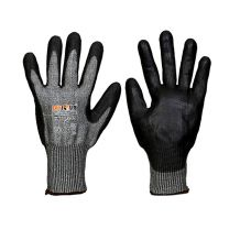 Saviour Black PU Coated on HPPE liner Gloves