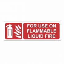 Flammable Liquid Fire Sign