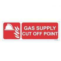 Gas Supply Cut off point Sign
