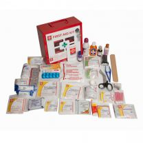 St Johns First Aid Industrial Kit [Small - Metal Box 4]