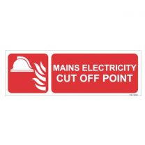 Mains Electricity cut off Point Sign