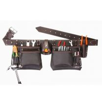 """Multi Pockets"" Heavy Duty Oil Tanned Leather Contractors Tool Belt"