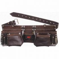 Pocket Oil Tanned Leather Tool Bag Belt