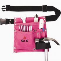 Pocket Suede Leather Pink Tool Belt Pouch