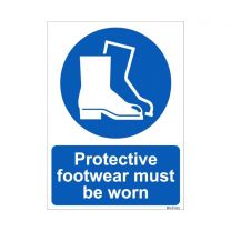 Protective Foorwear Must be worn Sign