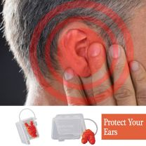 Reusable Soft Ear Plugs [Set of 10 Ear Plugs]