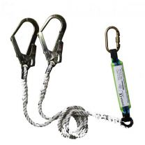 Saviour Double PP Lanyard [With Snap Hook and Shock Absorber]