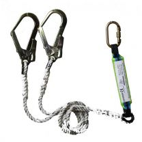 Saviour Double Polyamide lanyard [With Scaffold Hook and Shock Absorber]