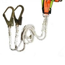 Saviour Double Polyamide lanyard [With Scaffold Hook]