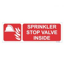 Sprinkler Stop Valve Inside Sign