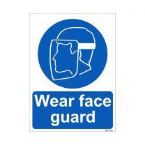 Wear Face Guard Sign