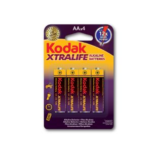 Alkaline AA AA Xtralife Batteries [4 Carded Pack]