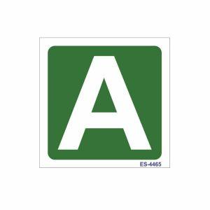 Alphabet Marking Sign