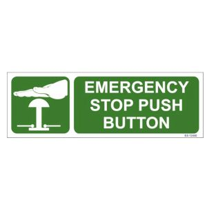 Emergency Stop Push Button Sign