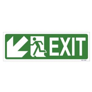 Exit with Man Running Sign