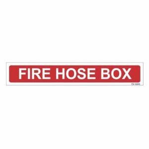 Fire Hose Box Sign