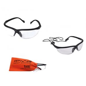 Safety Eye wear and Hanging Cord with Soft Pouch (Combo)