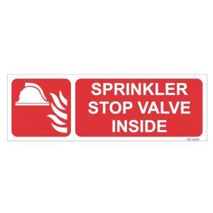 Sprinkler Stop Valve Inside Sign
