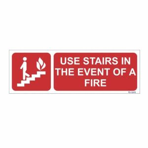 Stairs in The Event of a Fire Sign
