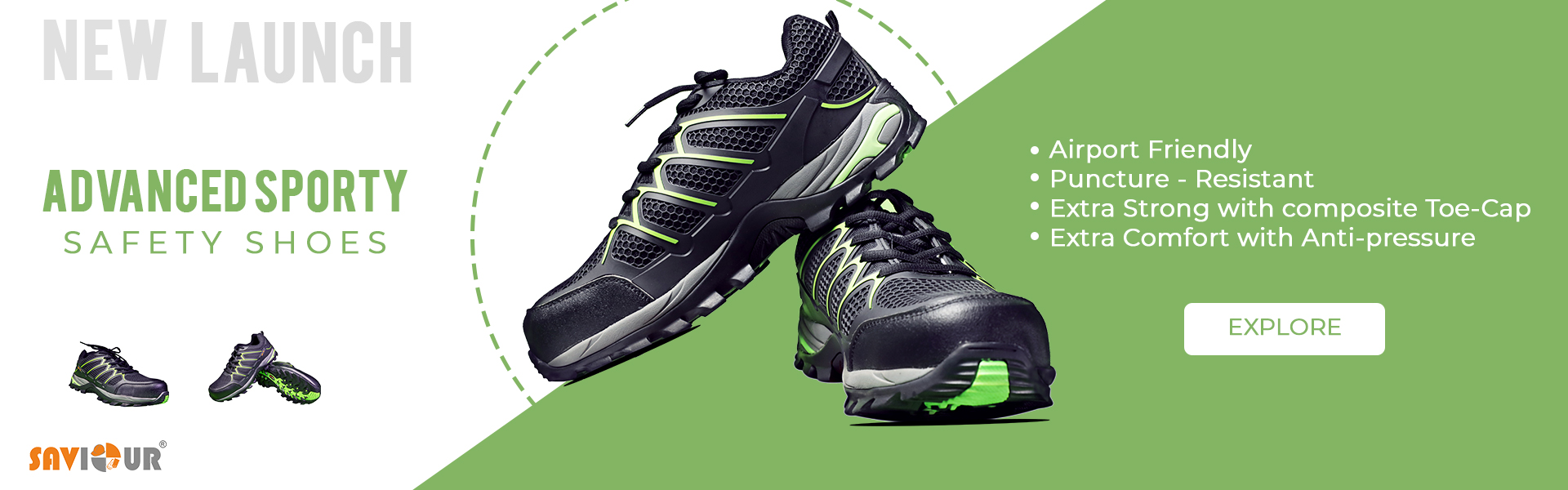Advanced Sporty Safety Shoes