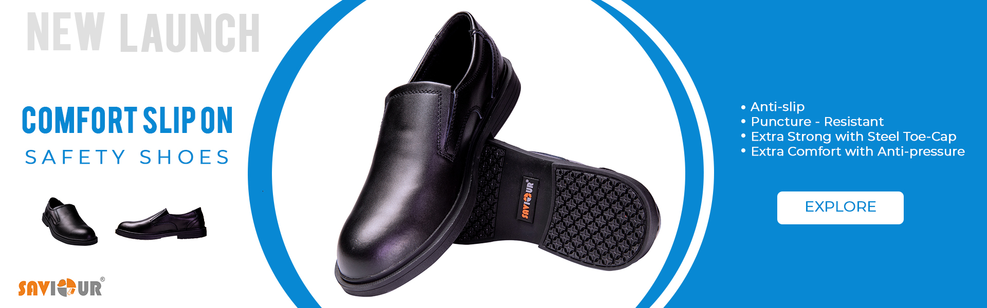 Comfort slip on safety shoes