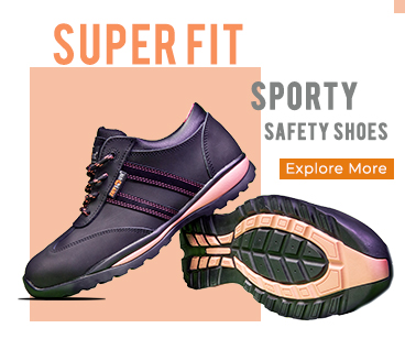 Super Fit Sporty Safety Shoes